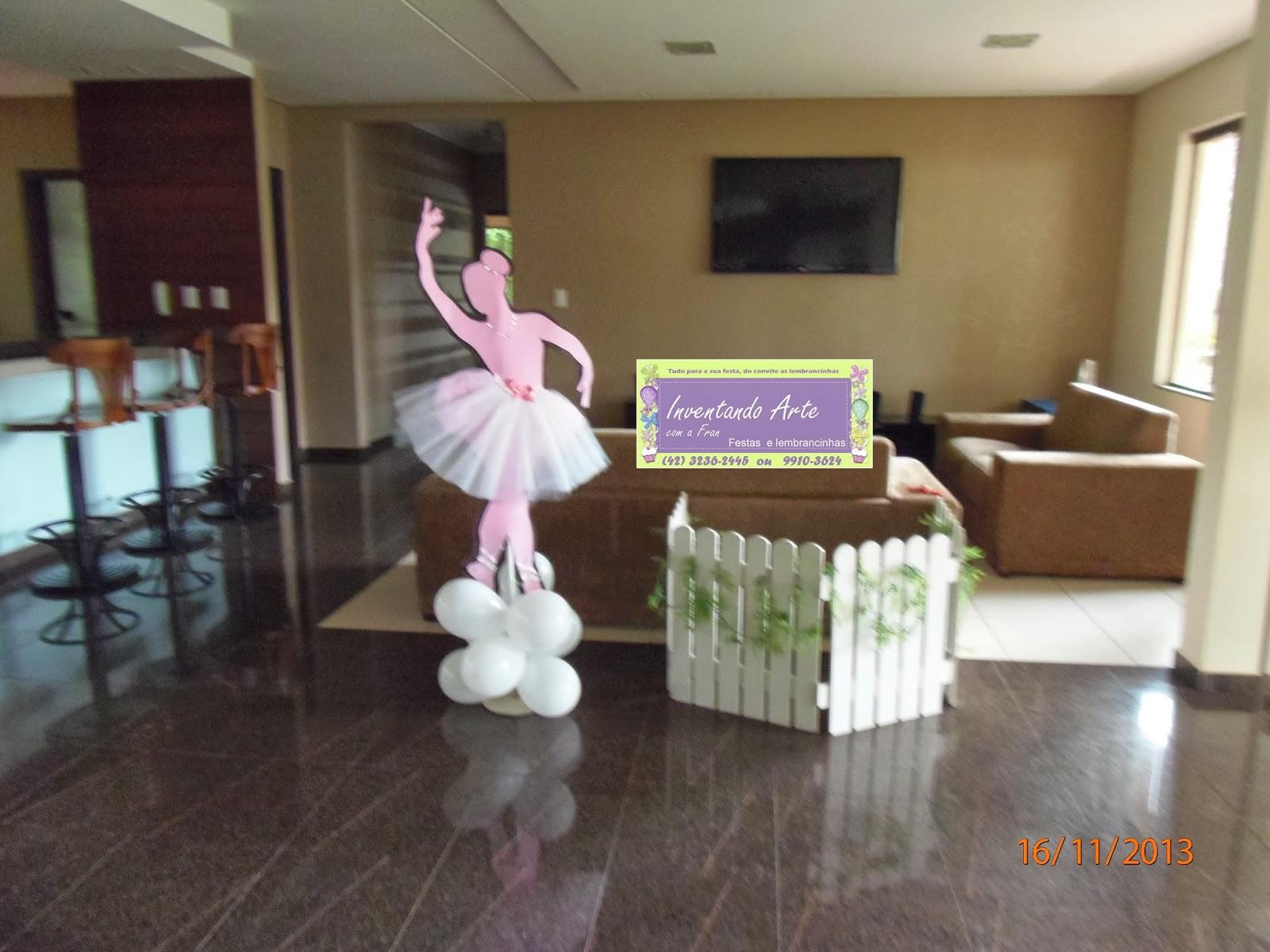 festa decoração bailarina