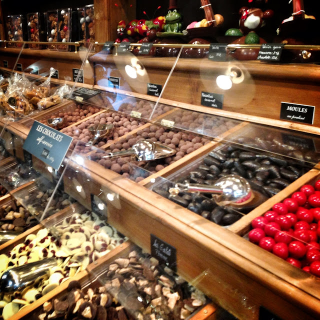 Sweet candy store in the Marias Paris France