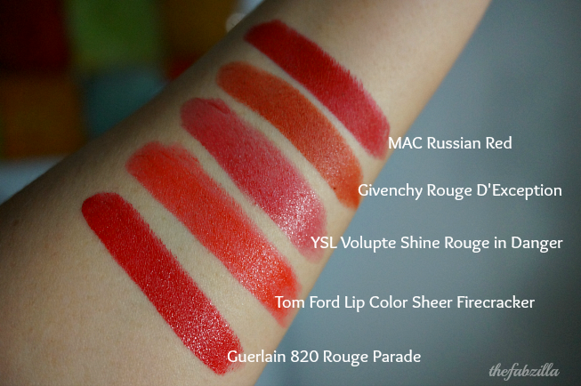 Guerlain Rouge G de Guerlain 820 Rouge Parade, Holiday 2014 Makeup Collection, Review, Swatch