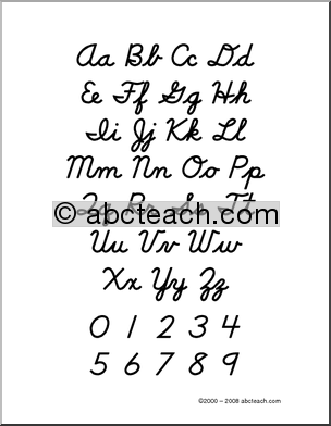 Alphabet Cursive Handwriting