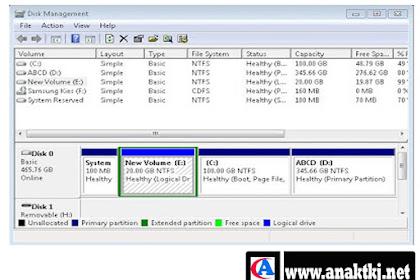 Cara Cepat Dan Mudah Partisi Windows 7 Tanpa Software