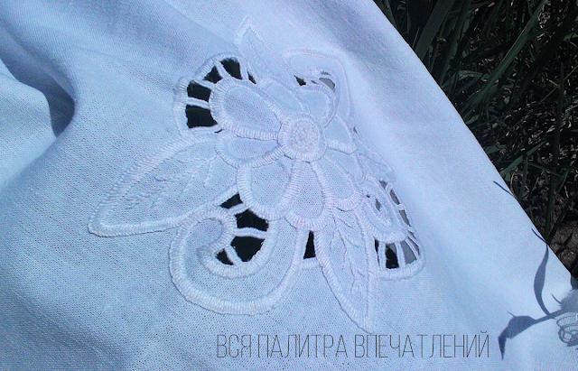 Rishelie hand embroidery Palette of impression blog Ручная вышивка ришелье Блог Вся палитра впечатлений