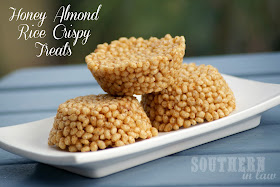 Healthy Honey Almond Butter Rice Crispy Treats