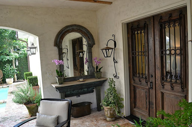 French country style modern day townhouse fashioned with for French country front door