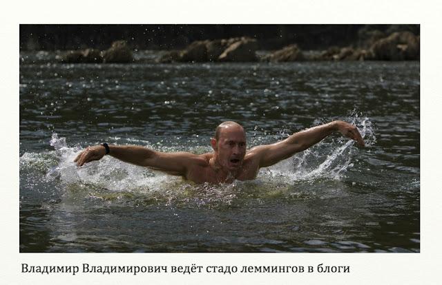 Владимир Владимирович ведёт стадо леммингов в блоги.
