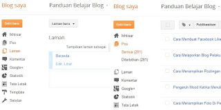 Halaman Page dan Post Blogspot