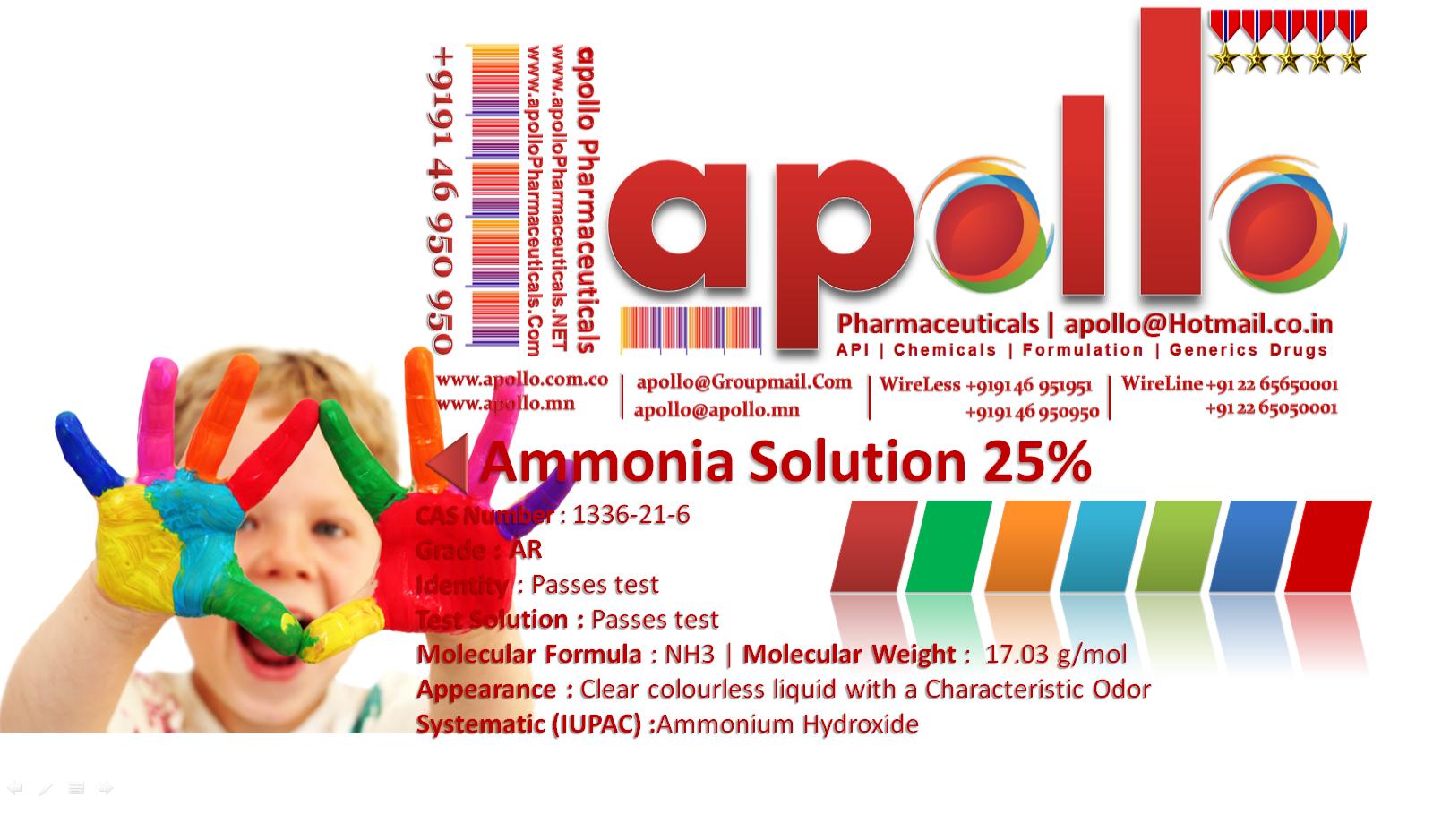 Ammonia Solution 25 Apollo 91 91 46 950 950 Ammonia Solution