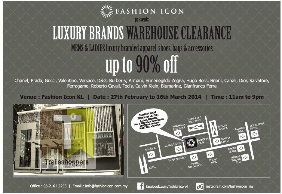 Fashion Icon Luxury Brands Warehouse Clearance Kuala Lumpur