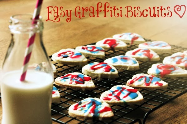 easy graffiti biscuits with the kids
