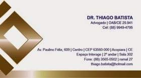 Advogado Dr. Thiago Batista