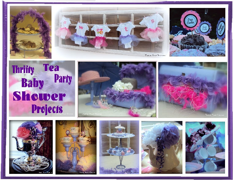Finding secret treasure pinterest inspired tea party for Baby shower decoration store