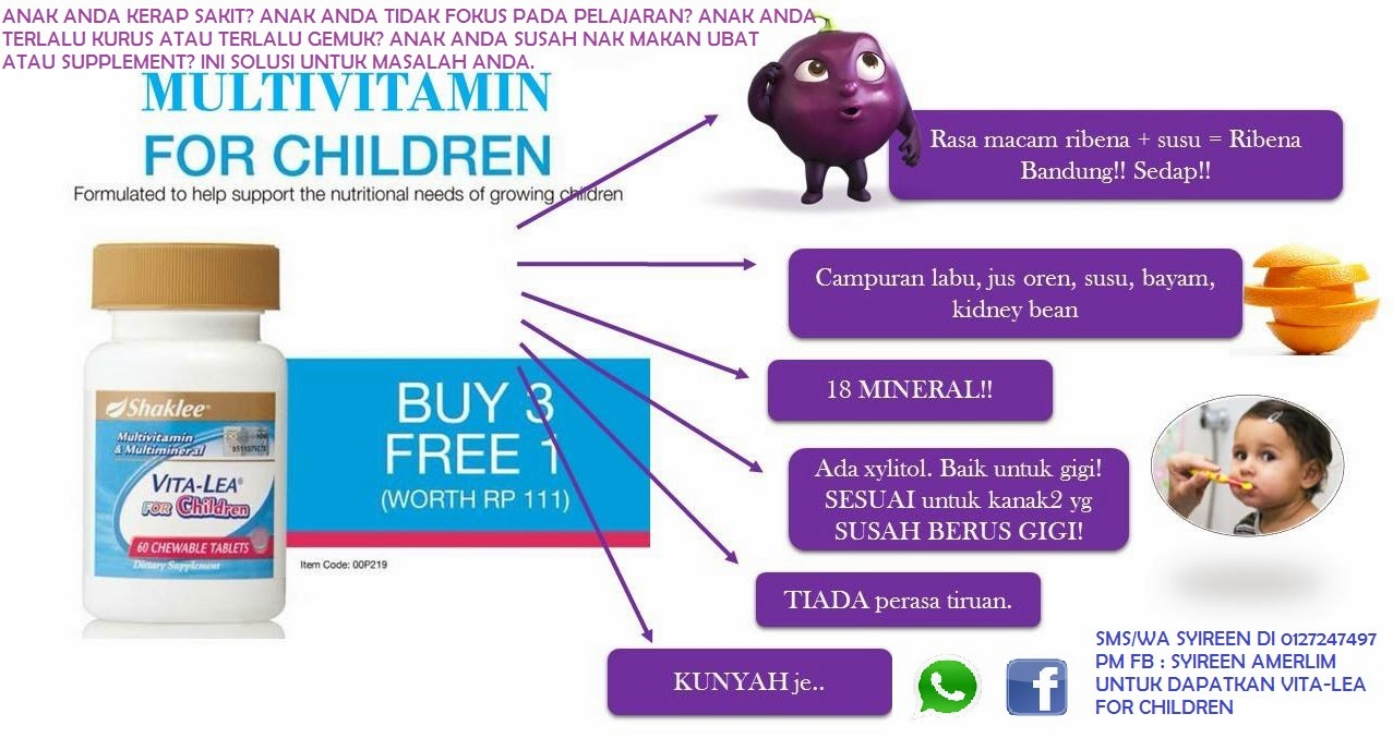 Vita-lea for Children - The Best Multivitamin for Our Kids
