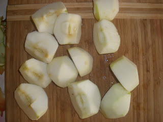 Яблочная запеканка с полентой