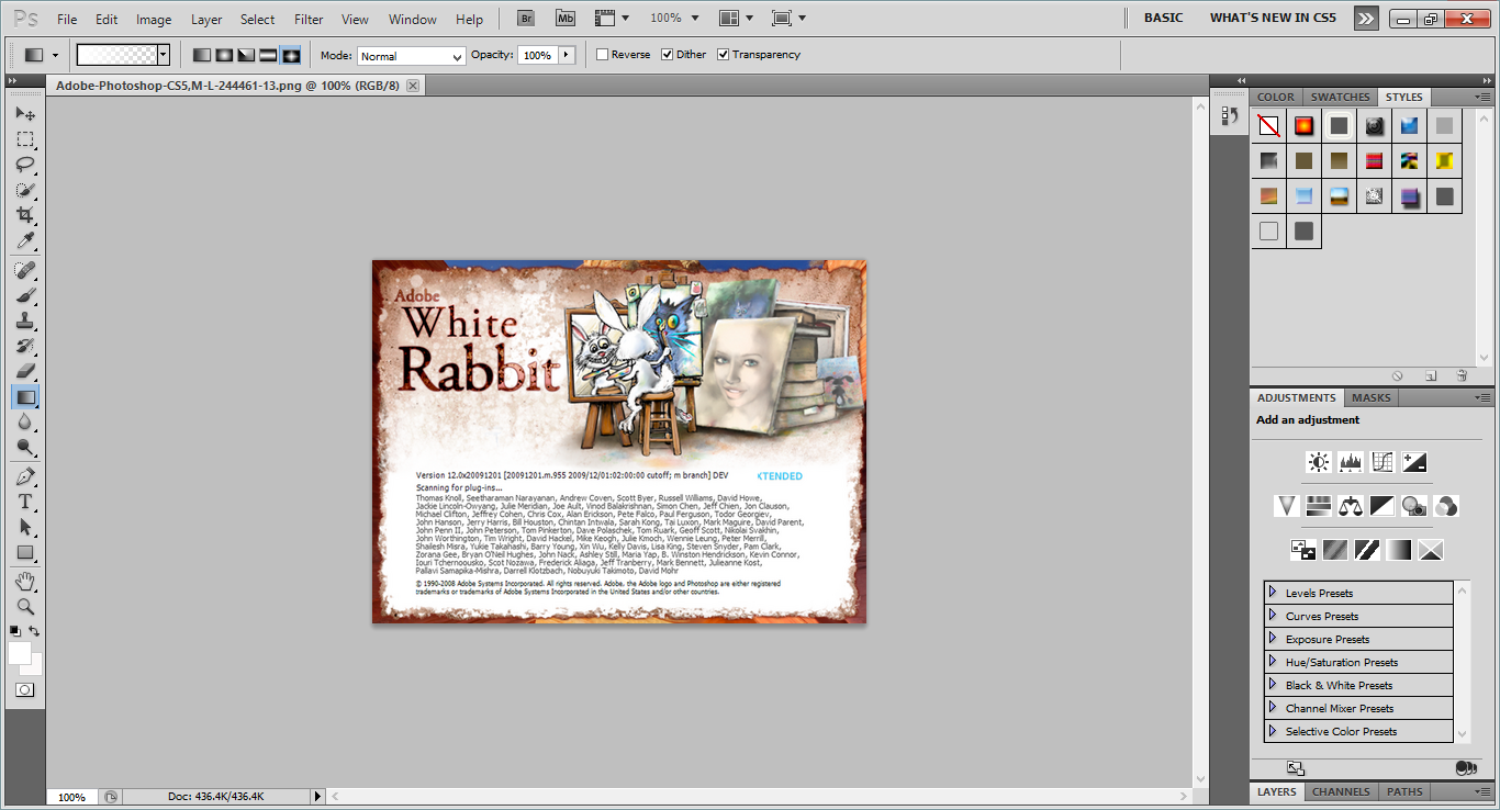 Adobe Photoshop CS5 White Rabbit