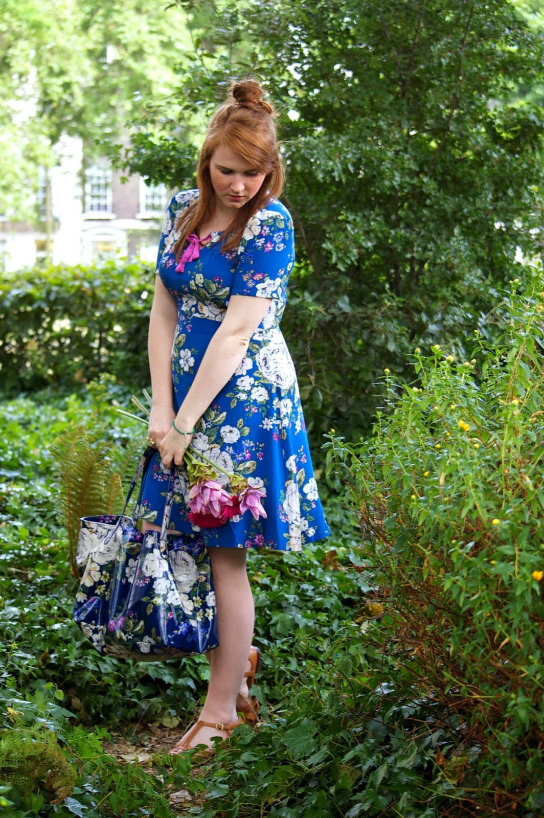 cath kidston hampstead rose crepe tea dress