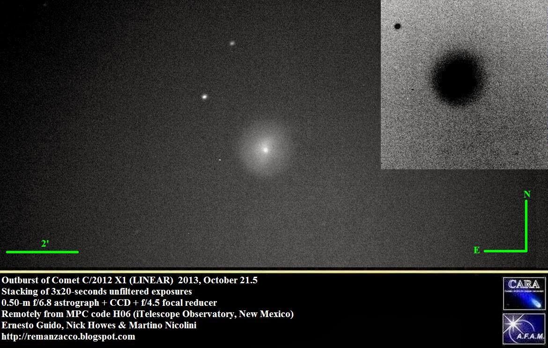 комета C/2012 X1 вспыхнула