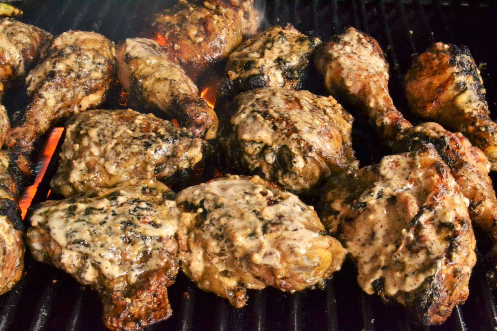 7kidsathome: Grilled Chicken with White BBQ Sauce