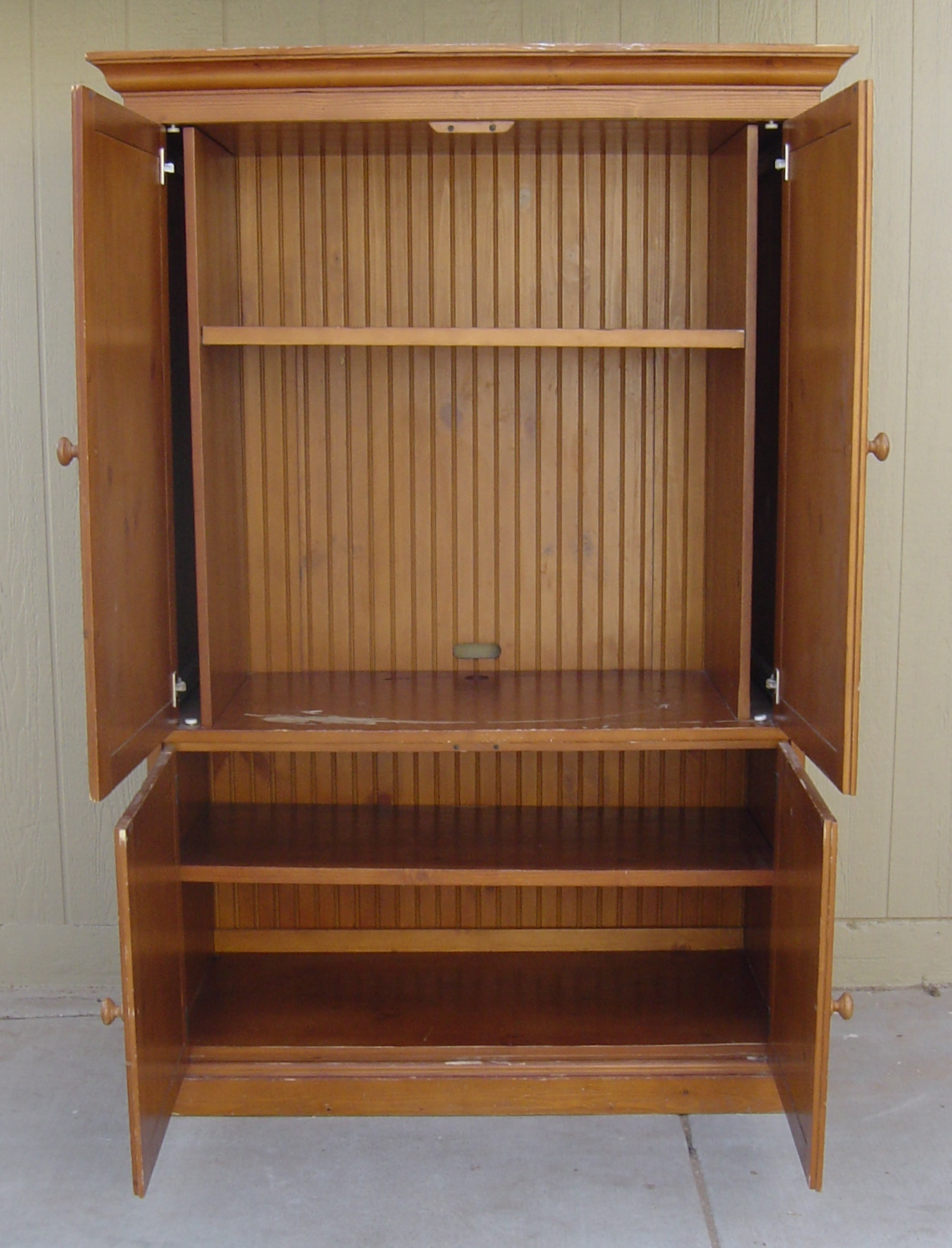 the backyard boutique by five to nine furnishings knotty pine armoire