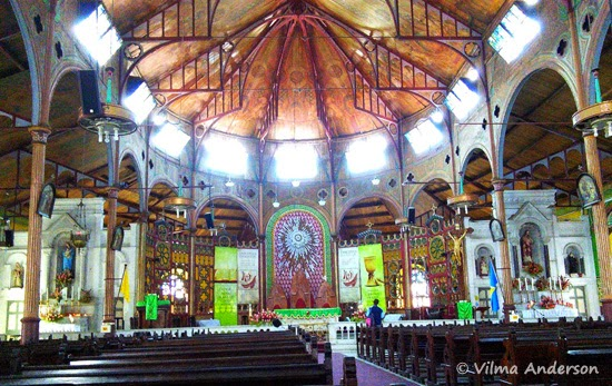 Indoor view of the Immaculate Conception Cathedral in St. Lucia