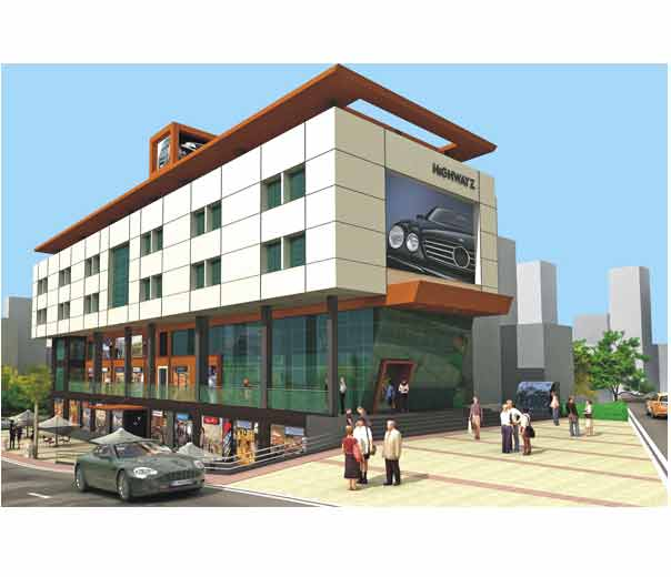Front Elevation Of Commercial Plaza : D front elevation commerical plaza