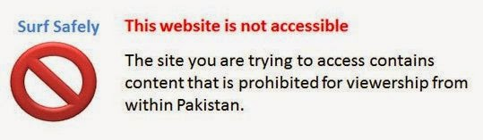 tampilan Pakistan memblokir wordpress