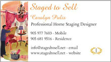 I am a professional Home Staging Designer! Come visit my website!