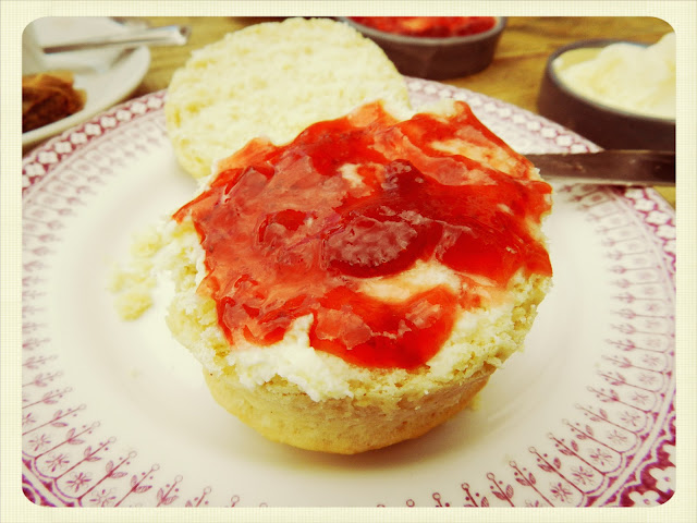 Cream Tea Queen scone at Folly Bridge