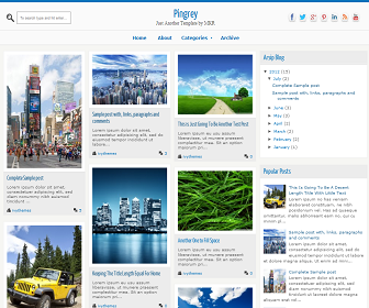 Pingrey Blogger Template