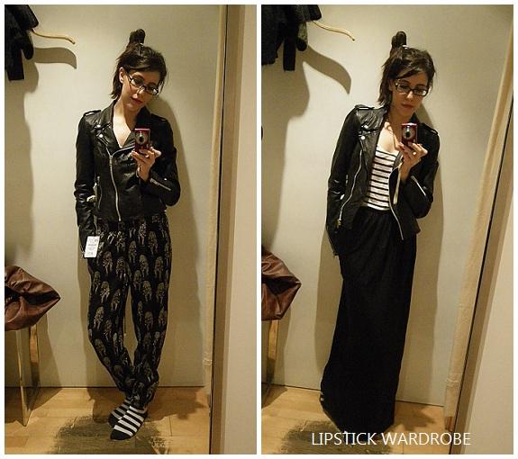 Lipstick Wardrobe blog Zara leather jacket worn outfits