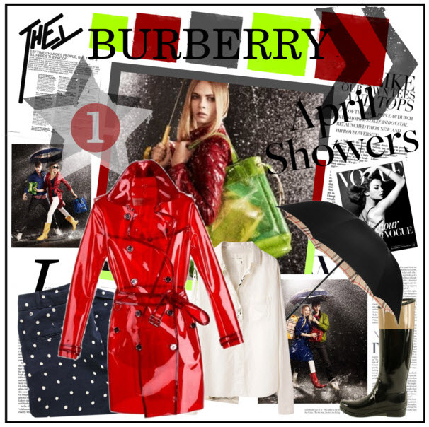 burberry bright red trench coat