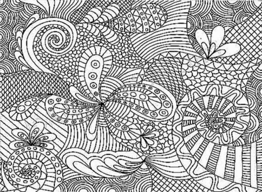 Difficult adult coloring pages printable for Super hard abstract coloring pages for adults
