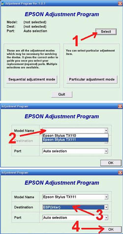 Kumpulan Printer Resetter: Resetter Epson tx111 Free download