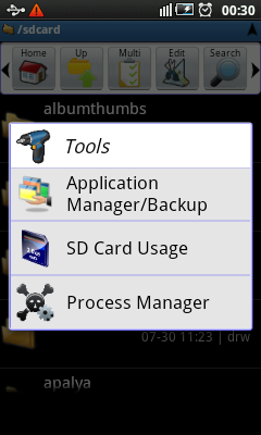 Android File Manager - Tools