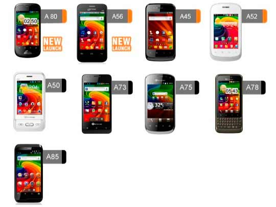 Buy cheap Micromax android phones in India