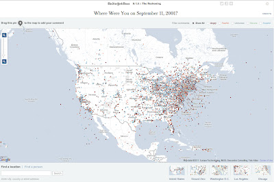 New York Times Interactive Map September 11