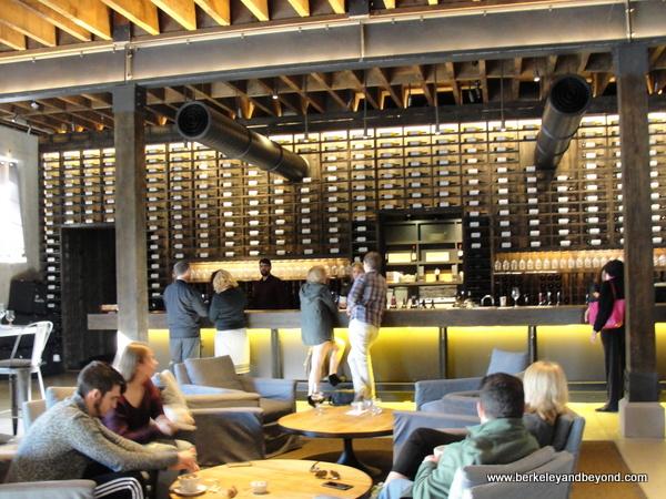 interior of tasting room at Charles Krug Winery in St. Helena, California