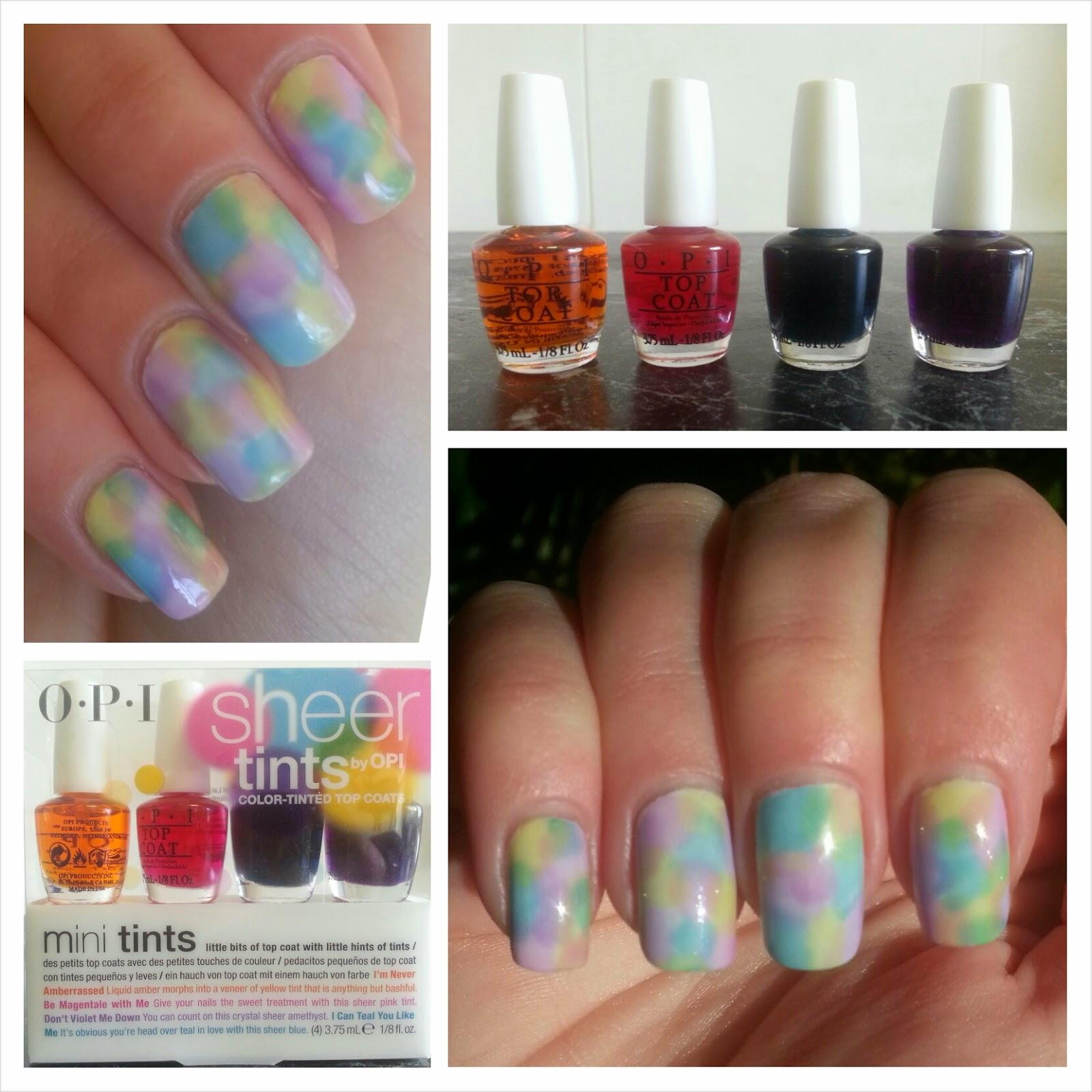 Pins, Patterns and Polish: OPI Sheer Tints Nail Art + Review