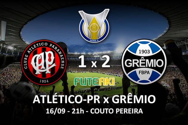 Veja o resumo da partida com os gols e os melhores momentos de Atlético-PR 1x2 Grêmio pela 26ª rodada do Brasileirão 2015.