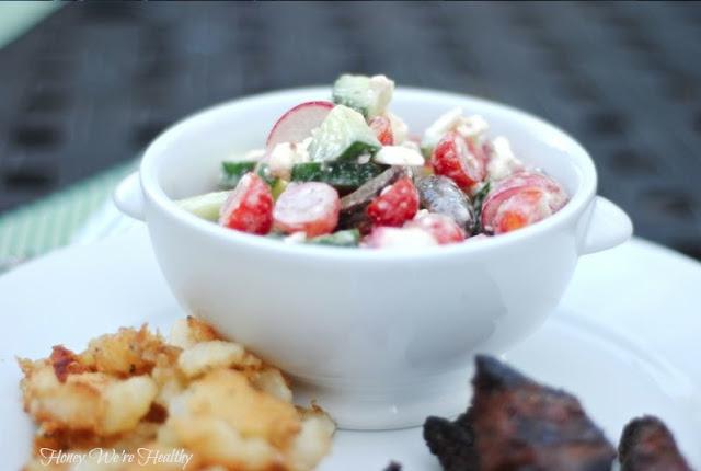 Honey We're Healthy: Healthy Greek Chopped Salad