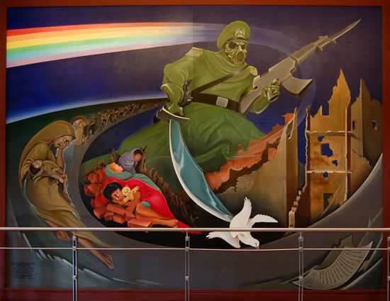 Fused news denver airport the truth for Mural in denver airport