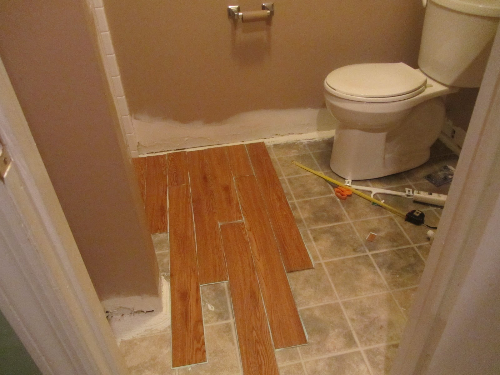Vinyl Plank Floor In Bathroom Hd Image