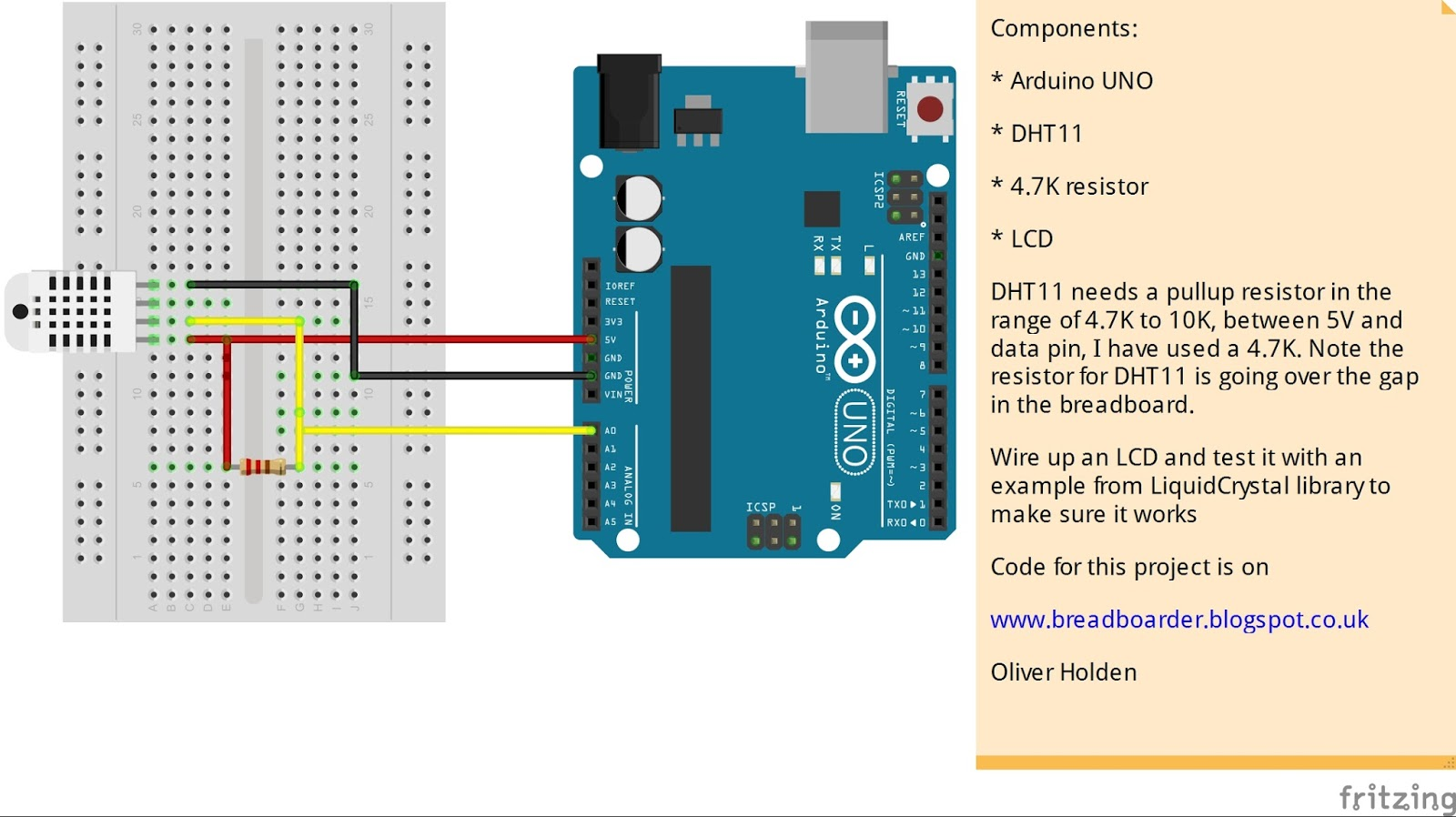 Arduino With Dht11 Prints Temperature 43 likewise Usare Libreria Wire I2c Arduino Con Eeprom 24aa1025 as well Datasheets Pin Outs furthermore 7segmentshield also Lcd Display Hello World. on arduino uno temperature sensor with display