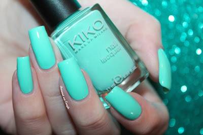 "Swatch of ""389 - Mint Milk"" by Kiko"
