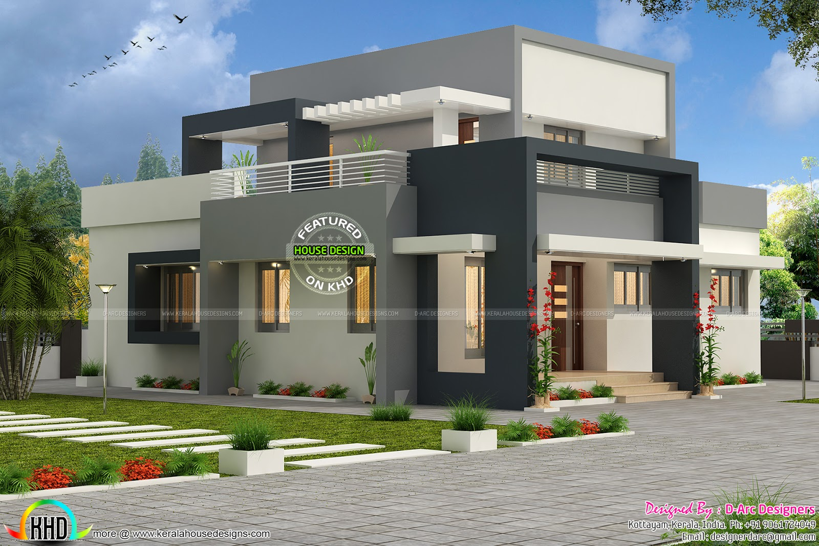 3 bhk contemporary design vasthu compatible kerala home for 3 bhk single floor house plan
