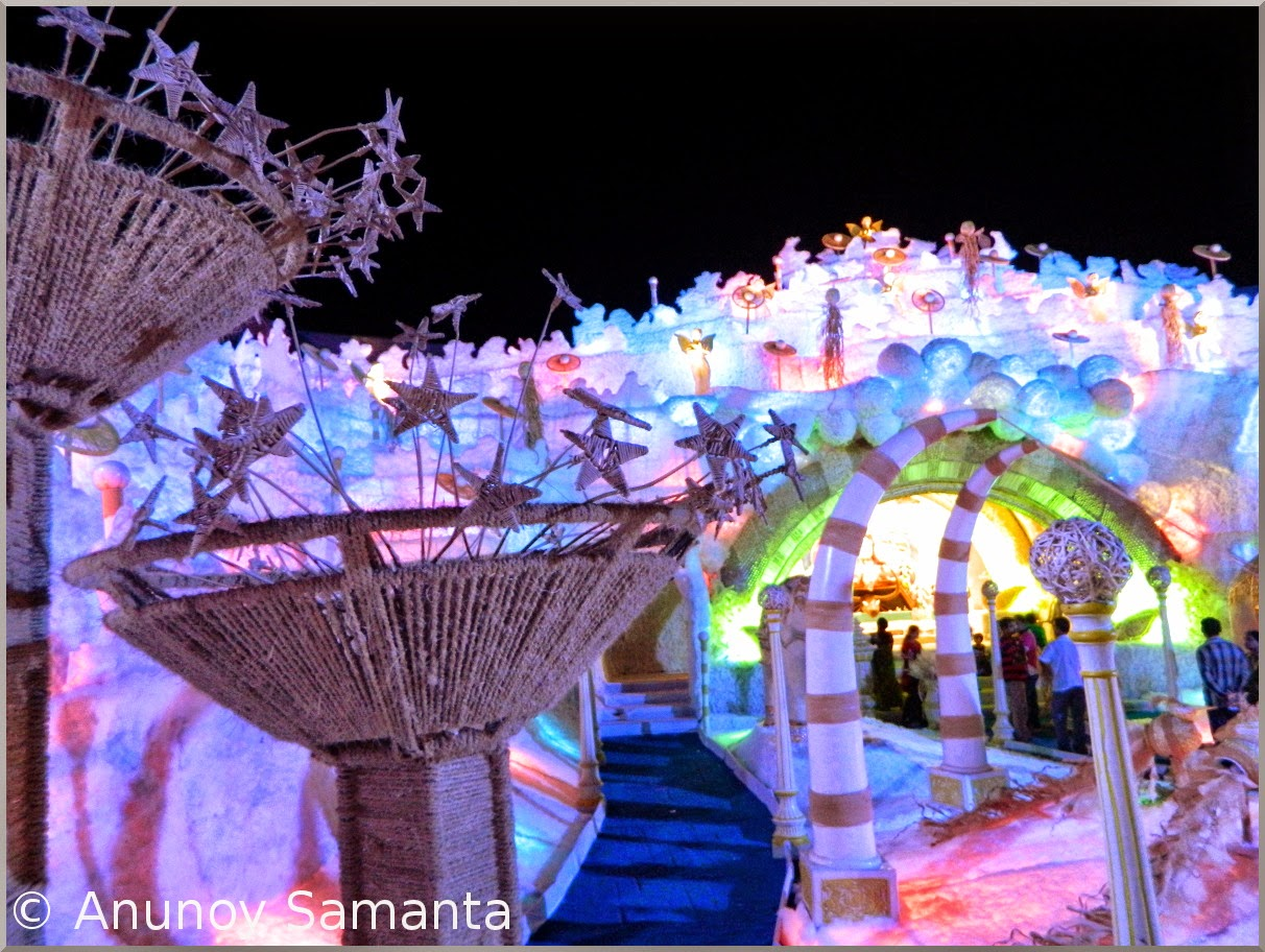 Durga Puja 2014 - Pandal hopping on Panchami midnight