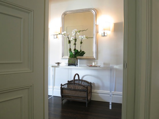 Christina Murphy apartment entry, Louis mirror, orchid