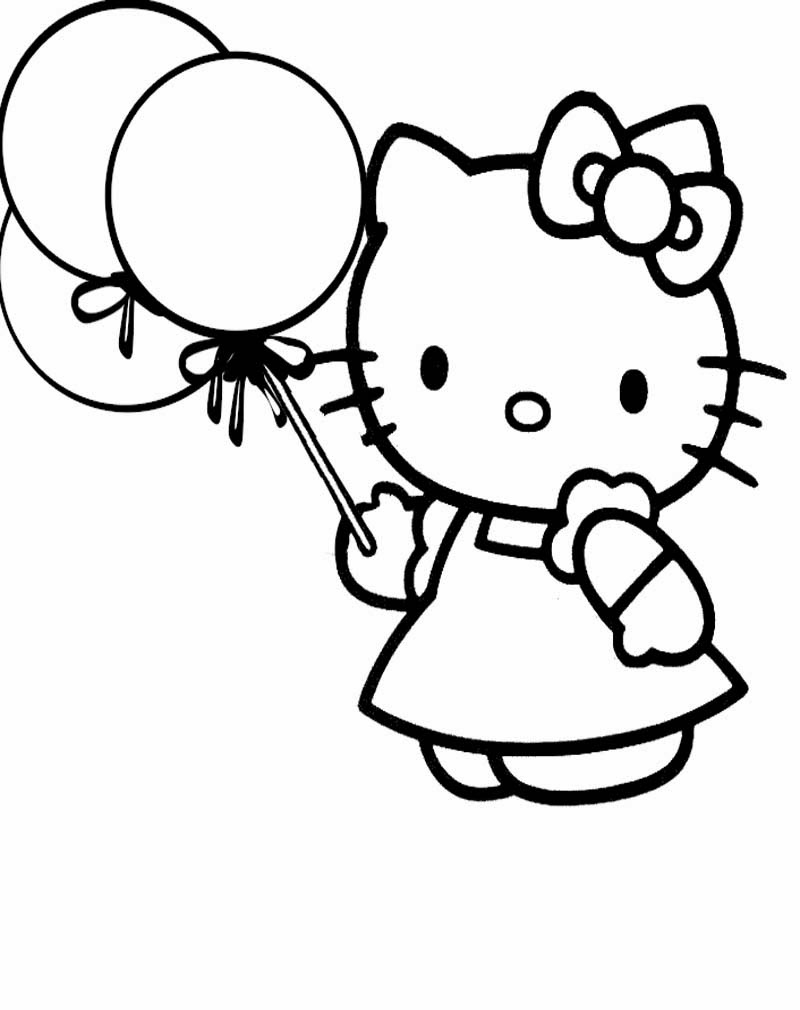 Image Gambar Mewarnai Kartun Hello Kitty Download