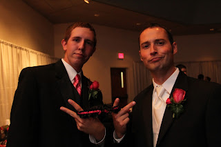 groom and groomsman