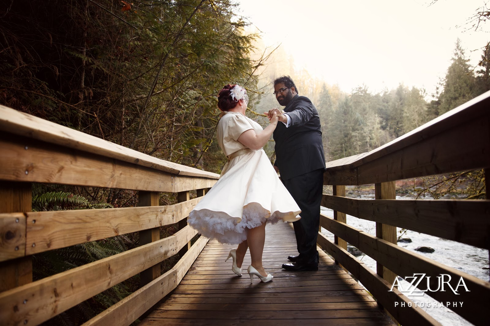 Dancing on the Bridge - Patricia Stimac, Seattle Wedding Officiant