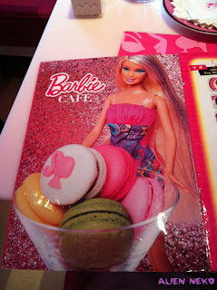 Barbie cafe menu
